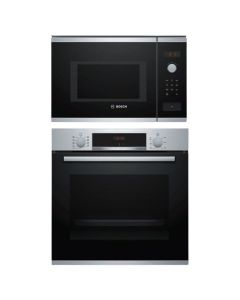 Bosch Oven And Microwave Combo STAINLESS STEEL + BLACK GLASS COMBO 09