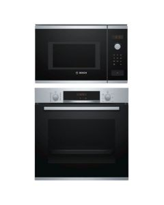 Bosch Oven And Microwave Combo STAINLESS STEEL + BLACK GLASS COMBO 10