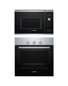 Bosch Oven And Microwave Combo STAINLESS STEEL + BLACK GLASS COMBO 07