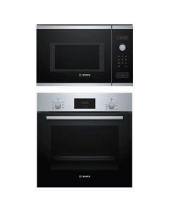 Bosch Oven And Microwave Combo STAINLESS STEEL + BLACK GLASS COMBO 08