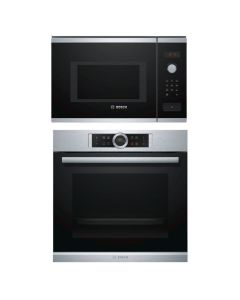 Bosch Oven And Microwave Combo STAINLESS STEEL + BLACK GLASS COMBO 11