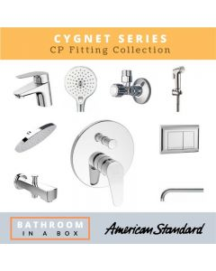 American Standard CP Fittings Bundle Cygnet Series Chrome Finish with 8 Inches Rain Shower AS 003