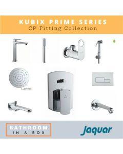 Jaquar CP Fittings Bundle Kubix Prime Series Chrome Finish with 6 Inches Rain Shower JAQ 003
