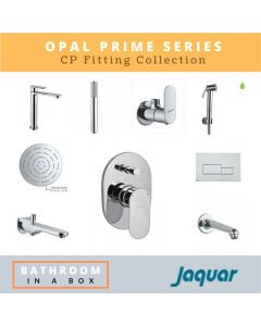Jaquar CP Fittings Bundle Opal Prime Series Chrome Finish with 6 Inches Rain Shower JAQ 001