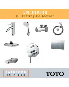 Toto CP Fittings Bundle LN Series Chrome Finish with 8 Inches Rain Shower TOT 004