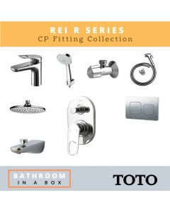 Toto CP Fittings Bundle REI-R Series Chrome Finish with 8 Inches Rain Shower TOT 001