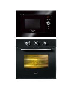 Kutchina Oven And Microwave Combo BLACK GLASS COMBO 67