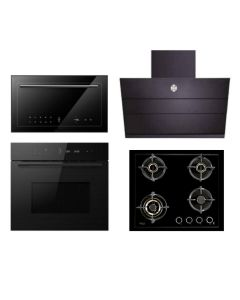 Hafele Chimney + Hob + Oven + Microwave Combo BLACK Finish HACHOM-32