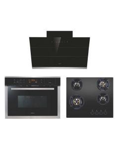 Elica Chimney + Hob + Combi Oven Combo BLACK Finish ELCHCO-03