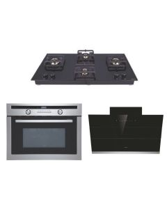 Elica Chimney + Hob + Combi Oven Combo BLACK Finish ELCHCO-02