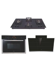 Elica Chimney + Hob + Combi Oven Combo BLACK Finish ELCHCO-04