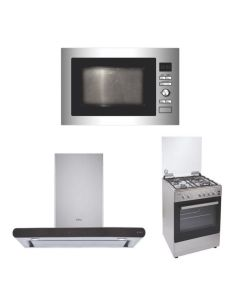 Elica Chimney + Cooking Range + Microwave STAINLESS STEEL Finish ELCCRM-01