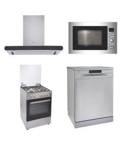 Elica Chimney + Cooking Range + Microwave + Dishwasher STAINLESS STEEL Finish ELCCRMD-01