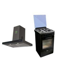Faber Chimney + Cooking Range + Microwave Combo BLACK Finish FACCRM-03