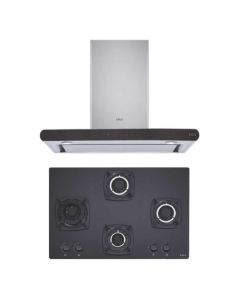 Elica Chimney + Hob Combo STAINLESS STEEL + BLACK Finish ELCH-15