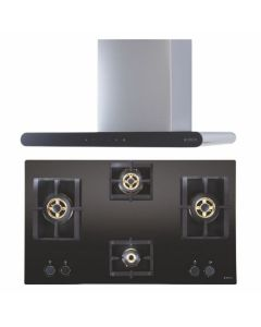 Elica Chimney + Hob Combo STAINLESS STEEL + BLACK Finish ELCH-11