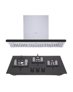 Elica Chimney + Hob Combo STAINLESS STEEL + BLACK Finish ELCH-16