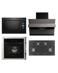 Hafele Chimney + Hob + Oven + Microwave Combo BLACK Finish HACHOM-23