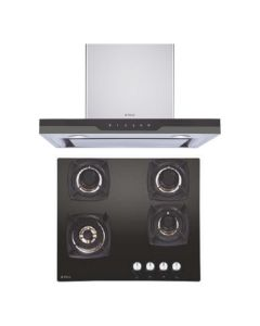 Elica Chimney + Hob Combo STAINLESS STEEL + BLACK Finish ELCH-13