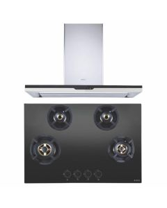 Elica Chimney + Hob Combo STAINLESS STEEL + BLACK Finish ELCH-09