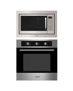 Glen Oven And Microwave Combo STAINLESS STEEL COMBO 66