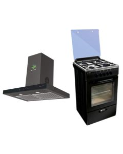 Faber Chimney + Cooking Range Combo BLACK Finish FACCR-03
