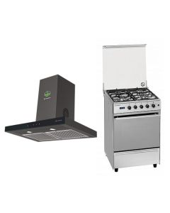 Faber Chimney + Cooking Range Combo STAINLESS STEEL + BLACK Finish FACCR-02