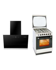 Faber Chimney + Cooking Range Combo STAINLESS STEEL + BLACK Finish FACCR-01